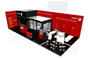 Simulation of Fagor Automation's booth at EMO2015